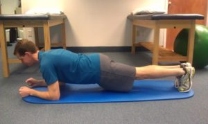 Proper for for a plank.